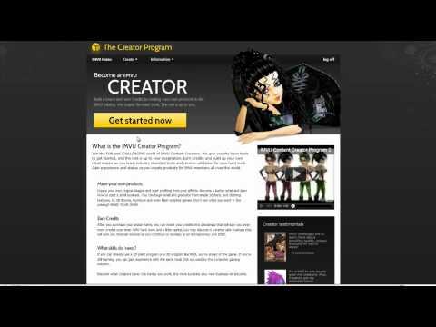 Registering as a IMVU Creator ,