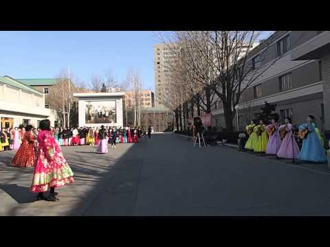 DPRK Election Day - Guitar ladies (North Korea)