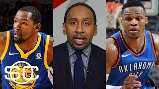 Stephen A. Smith predicts winner of Warriors vs. Thunder   SportsCenter   ESPN