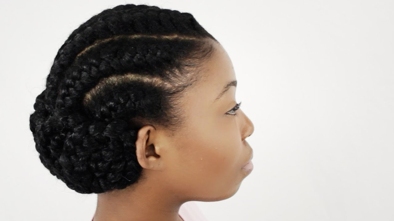 You Tube Natural Hair Styles: Goddess Braids On Natural Hair Finished Hairstyle Tutorial