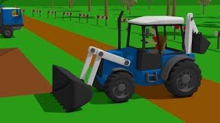 #Truck and #Excavator, Dump Truck and Blue Bulldozer | Street Vehicles | Maszyny Budowlane Kids
