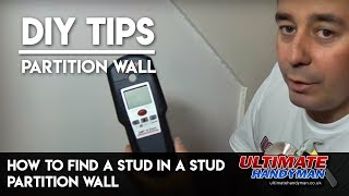 How to find a wooden stud in a partition wall