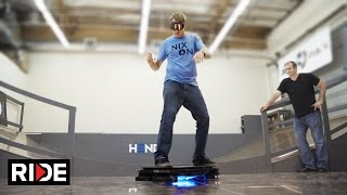 Tony Hawk on a Hoverboard