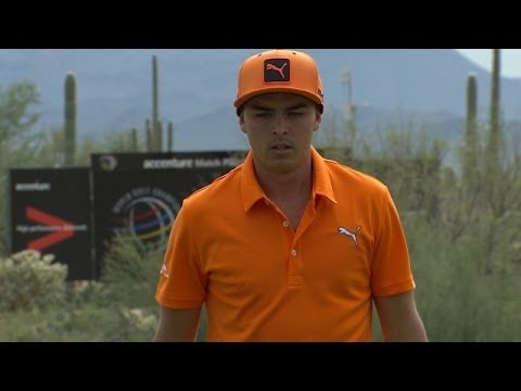 Rickie Fowler nearly makes an albatross on No. 13 at Accenture