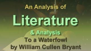 William Cullen Bryant waterfowl analysis