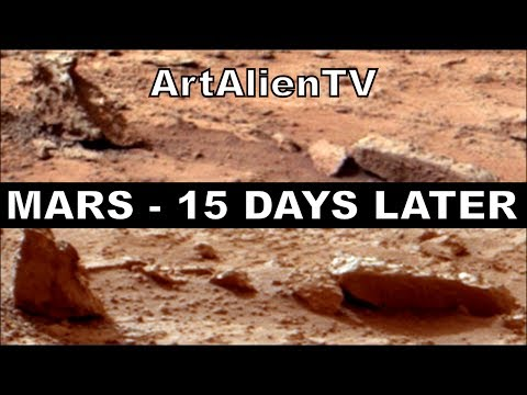 Mars 15 Days Later: Moving Rocks or Animals NASA Curiosity: MARS ZOO 2014. ArtAalienTV (Music) 1080p