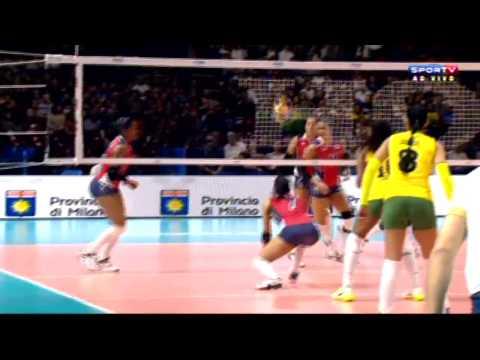 REP.DOMINICANA X BRASIL - Mundial de Vôlei Feminino 2014 - 3ª FASE