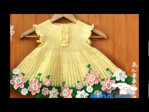 Платья детские вязаные крючком