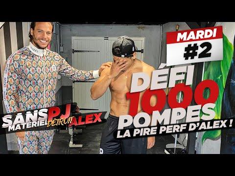PJ COACH ALEX EN LIVE : 1000 POMPES 🔥 LA PIRE PERF D'ALEX !
