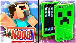 Thăm Nhà Noob Tặng IPHONE Creeper Trong Minecraft
