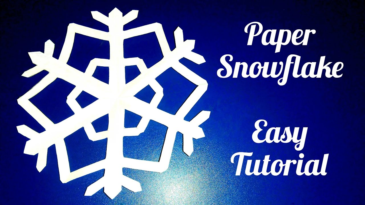Paper snowflake easy tutorial youtube for How to make a real paper snowflake