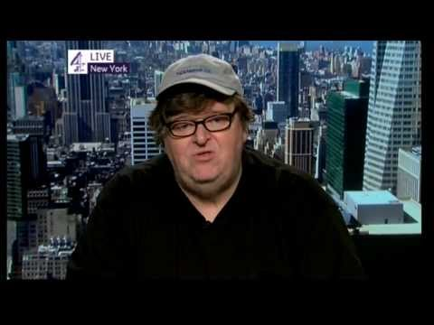 Michael Moore speaks about 'Occupy Wall Street' on October 24, 2011
