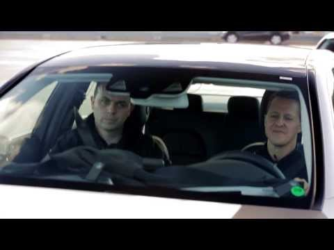 Michael Schumacher tries out W205 Mercedes-Benz C-Class Safety Systems