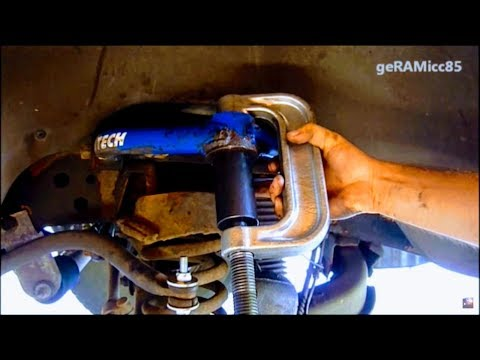BALL JOINTS REPLACEMENT DODGE RAM | HOW TO PRESS IN UPPER + LOWER | REMOVE REPAIR & INSTALL