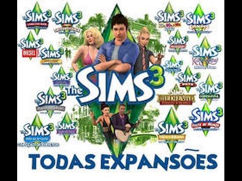 jogando The Sims 3 com todas expaçoes