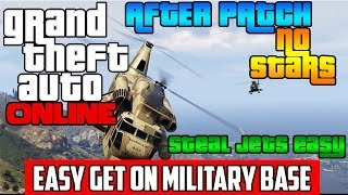 GTA 5 Online: *NEW* GET INTO MILITARY BASE WITH NO STARS