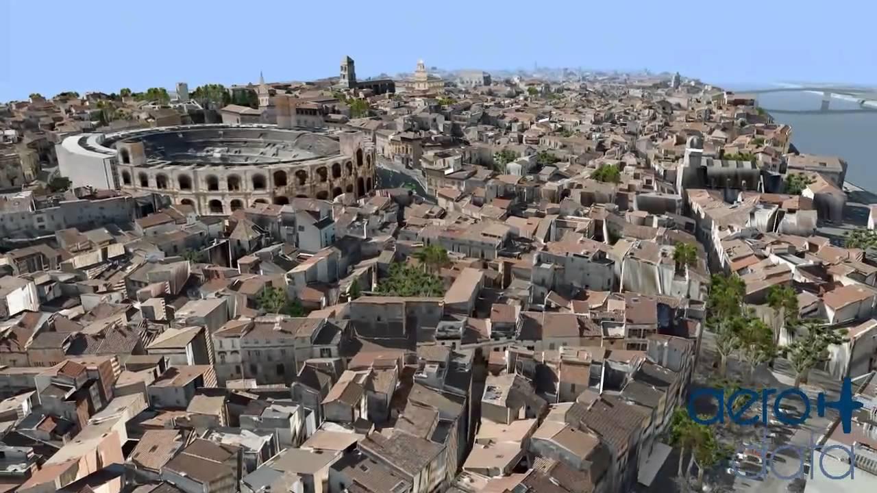 Maquette 3d de la ville d 39 arles fr youtube for Piscine de france