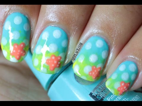 Summer beach look nail art