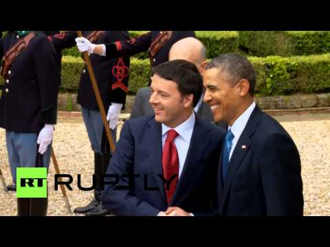 Italy: Obama talks Ukraine and Libya with Renzi in Rome
