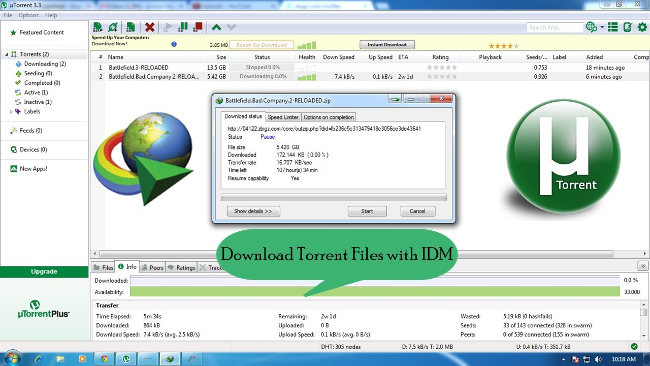 How to Download Torrent Files Faster (Working 100%) - YouTube
