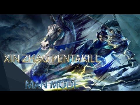 Epic Xin Zhao PENTAKILL 1 vs 5 *MAN MODE* [1080p HD]