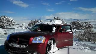 2005 dodge magnum RT stuck in snow