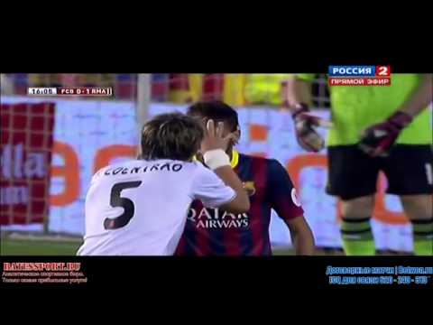 Neymar vs Pepe & Fabio Coentrao   Barcelona vs Real Madrid 0 1 HD  Copa Del Rey  2014