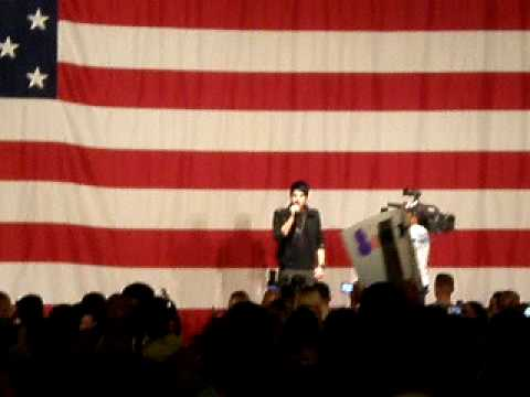 Adam Lambert American Idol National Anthem Live Miramar Airbase 05/08/09 recorded by Korey Castillo