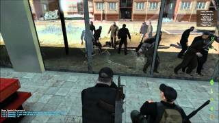 Surprise Zombie Horde Attack In DayZ (3 Players Vs 100