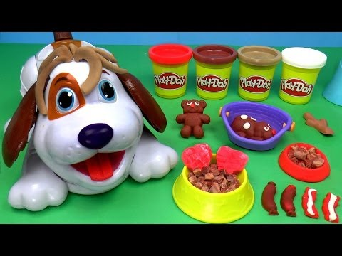 Play-Doh Puppies Playset, Play Dough Cute Puppies