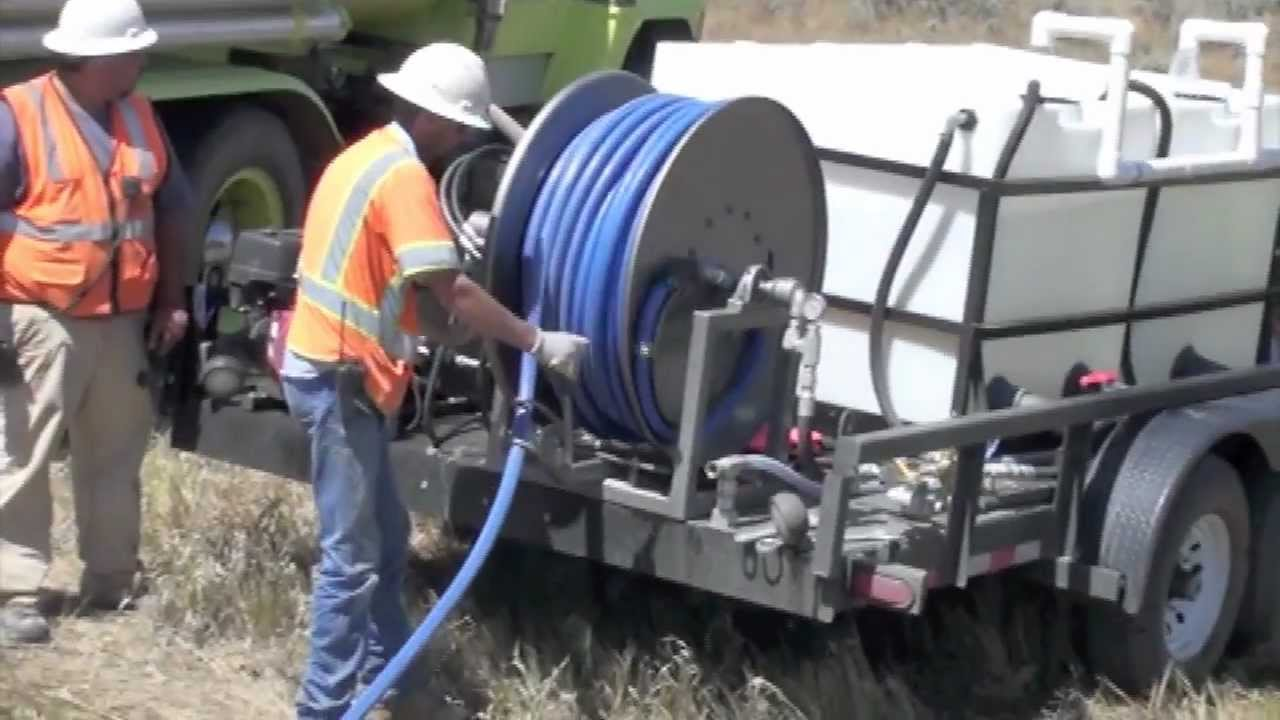 Culvert Cleaning Services : Culvert cleaning custom trailer jetter cold water