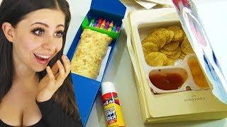 BEST SCHOOL HACKS ! (sneak food into class)