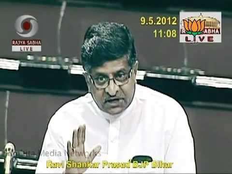 BJP LEADER RAVI SHANKAR PRASAD SPEECH DURING THE QUESTION HOUR .mp4