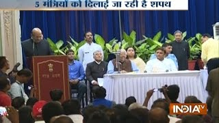 UP Cabinet expansion: Akhilesh inducts three new ministers, sacked minister