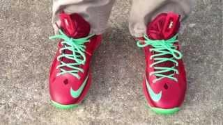 Nike Lebron X 10  quot Christmas quot  on feetLebron 10 Christmas On Feet