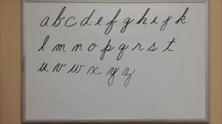 How to Write Cursive Lowercase Letters - American Handwriting