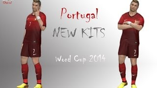 Portugal New Kits Home WORLD CUP 2014 HD Pes 2014