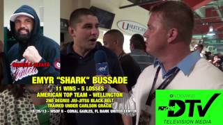 [Interview with Emyr Shark Bussade at WSOF 6 on Marcelo Alfay...] Video