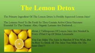 The Lemon Detox Diet How To Make The Lemonade