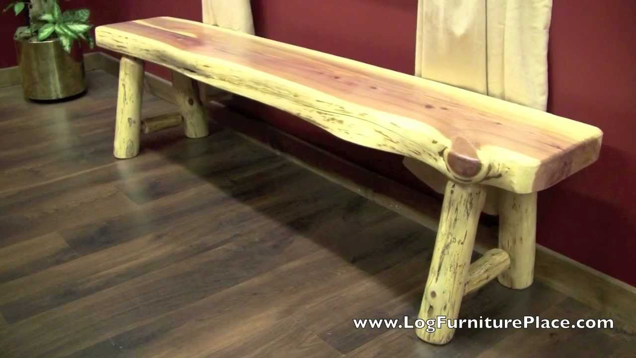 Red Cedar Log Bench From Logfurnitureplace Com Youtube