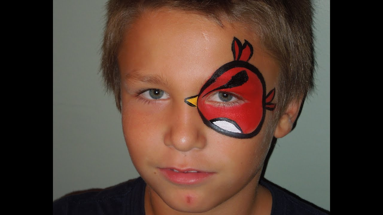 angry bird eye face painting marvelous masks chicago face painting youtube. Black Bedroom Furniture Sets. Home Design Ideas