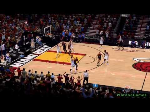 NBA Live 14 PS4 - NBA Oklahoma City Thunder vs Miami Heat - 4th Qrt - HD