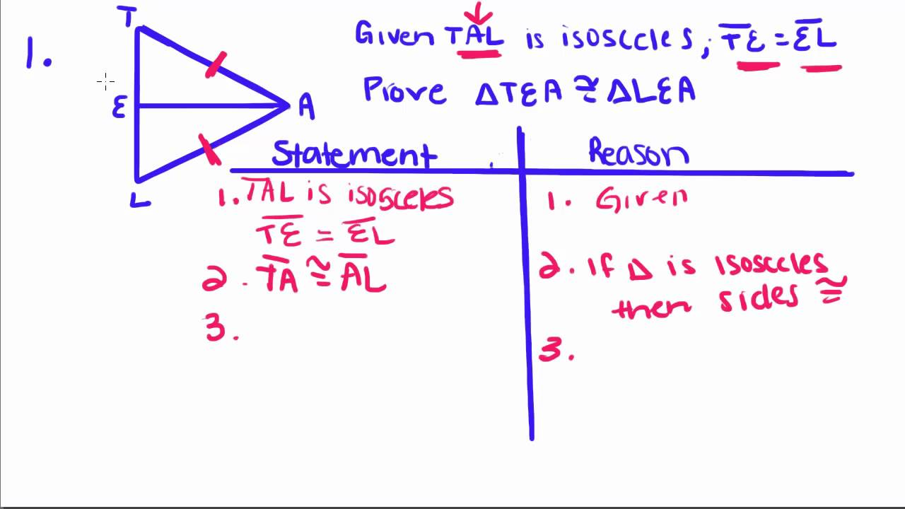 Geometry Proofs Practice http://www.youtube.com/watch?v=HYkO-wrIH1c