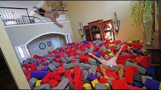 WORLD'S BIGGEST HOMEMADE FOAM PIT!! *INSANE FLIPS*