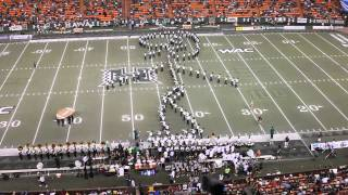 The Original Marching Band Forms Giant Football Player