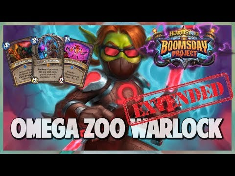 Omega Zoo Warlock | Extended Gameplay | Hearthstone | Boomsday Project
