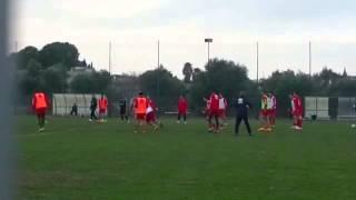 Bari, domenica la sfida di Bologna: il video dell'allenamento odierno