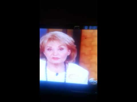 Barbara Walters Last wordson The View.