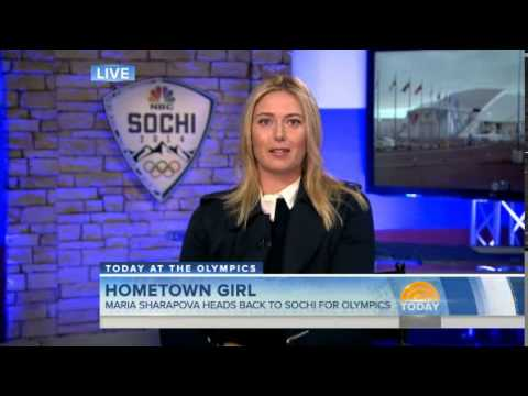 Maria Sharapova at Today show in Sochi
