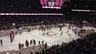 WATCH 26,000 Teddy Bears Thrown On Ice At 2013 Calgary Hitme...